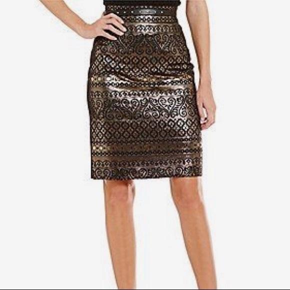 1db8db5f29 ANTONIO MELANI Skirts | Nwt Tani Golden Soire Pencil Skirt | Poshmark